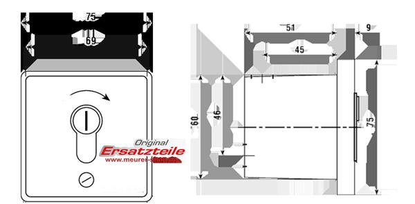 Relativ Schlüsseltaster 1-fach Signal 312 Unterputz-TM02010031332 / 80800112 JF41