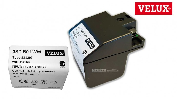 Akku Ersatz für Velux KSX 100 Solar Dachfenster