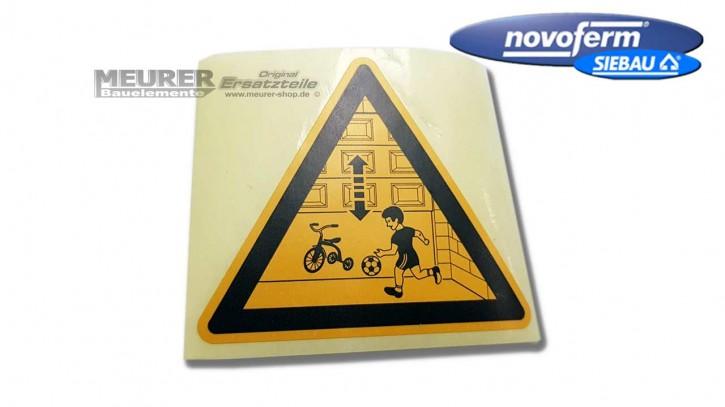 Aufkleber, Achtung elektr. Garagentor Antrieb Warnung