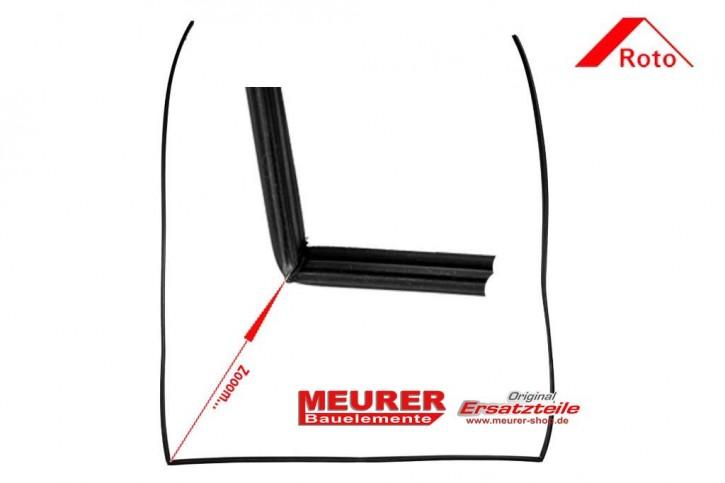 Aufschlagdichtung, Blendrahmen Roto Kunststoff Dachfenster Baureihe 735
