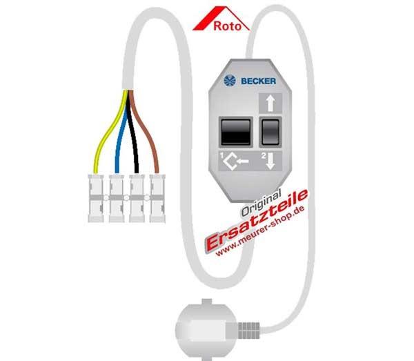 Becker Einstellset Kabel für P4/16 usw. Rollladen Antrieb Motor