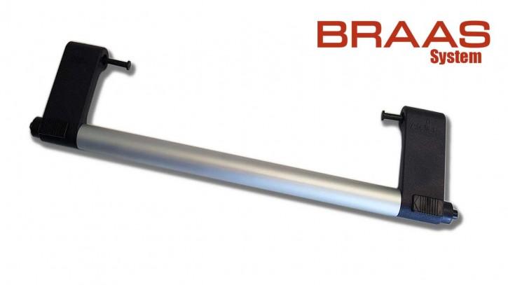 Griffstange komplett Braun vormontiert Alu Silber eloxiert für Braas Dachfenster