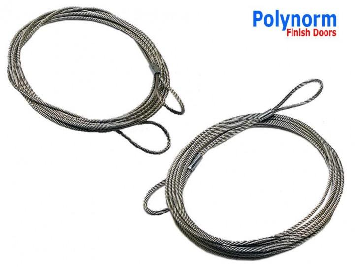 1 Paar Drahtseile, Zugseil für Polynorm Garagentor