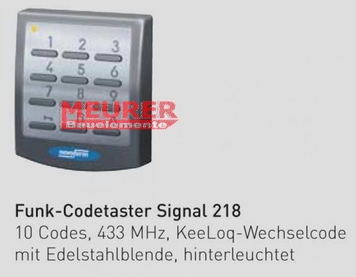 10 Codes Edelstahlblende NOVOFERM Aufputz Funk Codetaster Signal 218 weiss