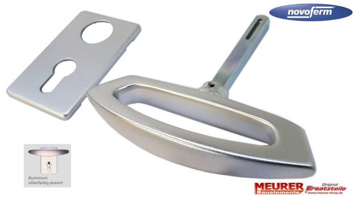 Garagentor Griff aus Aluminium F1 Silberfarbig