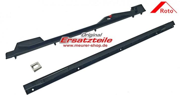 Schwarze Kunststoff Ersatz Gleitschienen für Roto Dachfenster R8K Rechts und Links