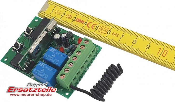 Universal Funk Empfangsteil Platine klein 2-kanal 433,92Mhz 12-24V Stromversorgung für Novoferm/Siebau