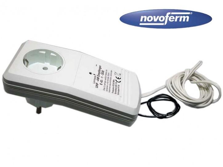 Novoferm Universal Steckdosen Empfänger 1-Kanal  433 MHz E433-ST