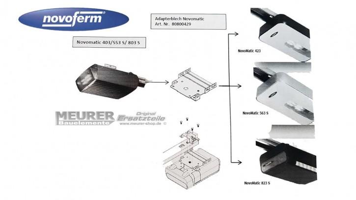 Adapterblech für Austausch Novomatic 403/553 S/ 803 S