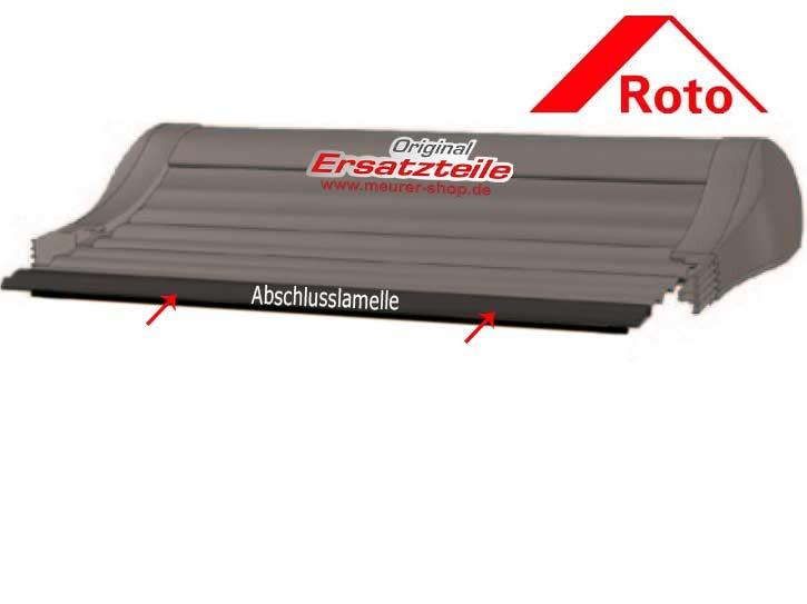 Roto ZRO RT2 Rollladen Abschlusslamelle unten vom Panzer