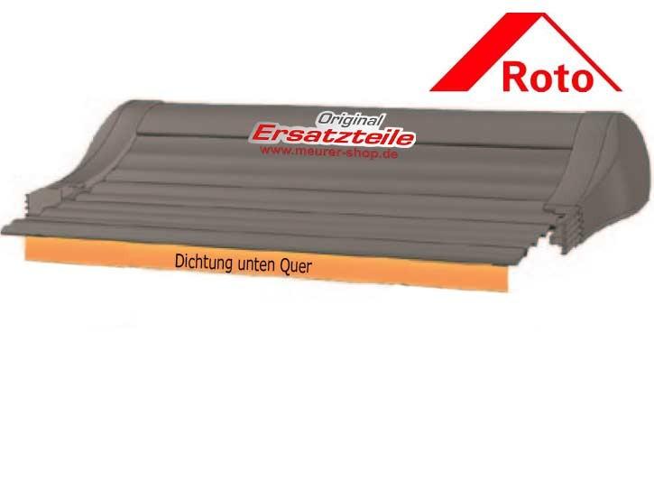 Roto ZRO RT2 Rollladen Dichtung v. Panzer unten Quer