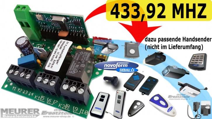 Universal Mini-Empfänger Dickert E27Q 2-Kanal 230V / 12-24Volt 433,92 MHz