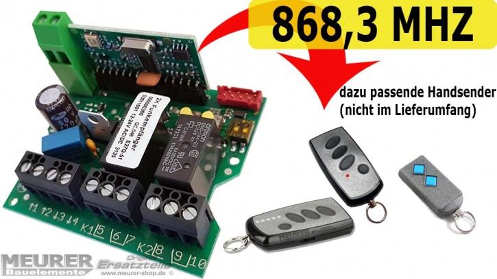Universal Mini-Empfänger Dickert E27Q 2-Kanal 230V / 12-24Volt 868,3 MHz