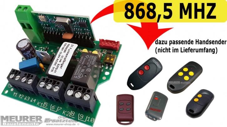Universal Mini-Empfänger Dickert E27Q 2-Kanal 230V / 12-24Volt 868,5 MHz