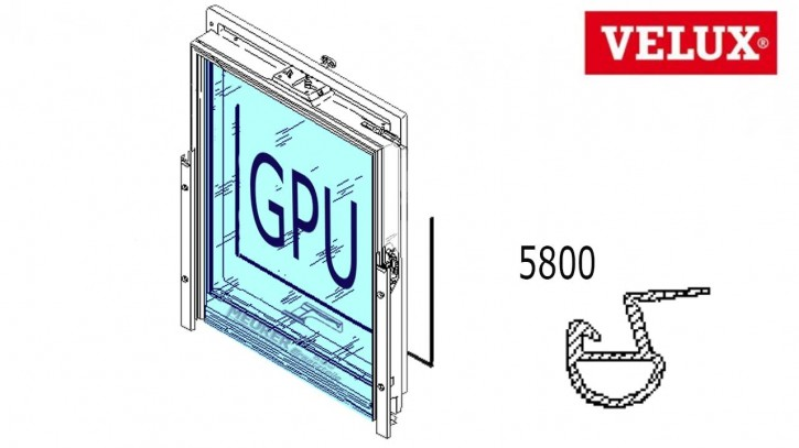 Velux Schleif Dichtung GPU Kunststoff Dachfenster Ecken geschweißt