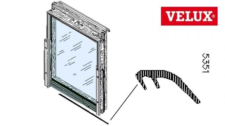 Velux Anschlagdichtung 5351 Flügel unten GGL/GPL Holz Dachfenster