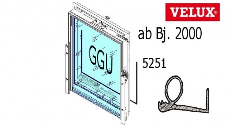 Velux Falz Dichtung GGU Kunststoff Dachfenster ab Bj. 2000 Ecken geschweißt