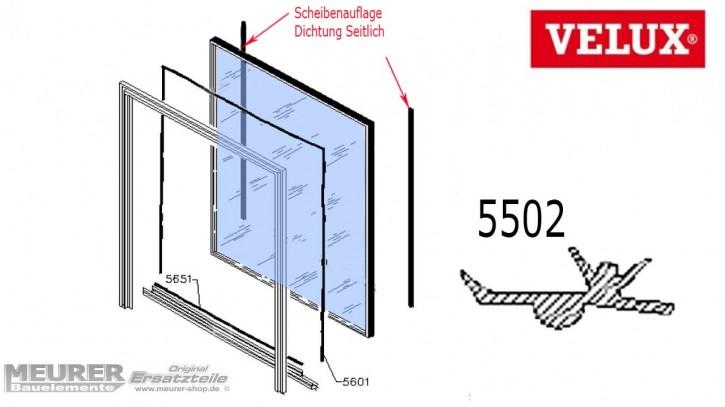 Velux Scheibenauflage Dichtung 5502 Kunststoff Fensterflügel Seitlich
