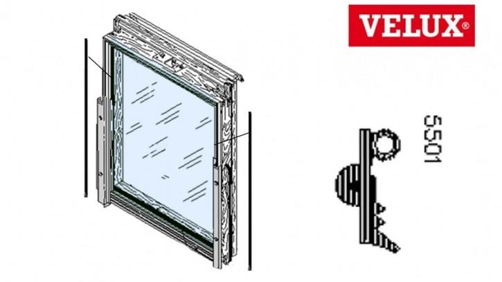 Velux Scheibenauflage Dichtung 5501 seitlich