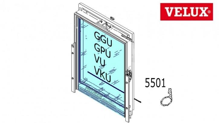 Velux Falz-Schlauchdichtung 5501 Kunststoff Dachfenster unten GGU/GPU/VU/VKU
