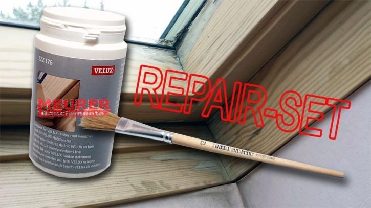 ZZZ 176 Velux Lack-Reparatur-Set Farblos für Holzfenster