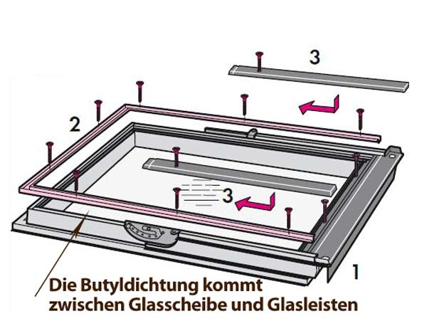 velux dachfenster scheiben dichtung aus butyl zum fachgerechten abdichten der glasscheibe 5 5 mm. Black Bedroom Furniture Sets. Home Design Ideas