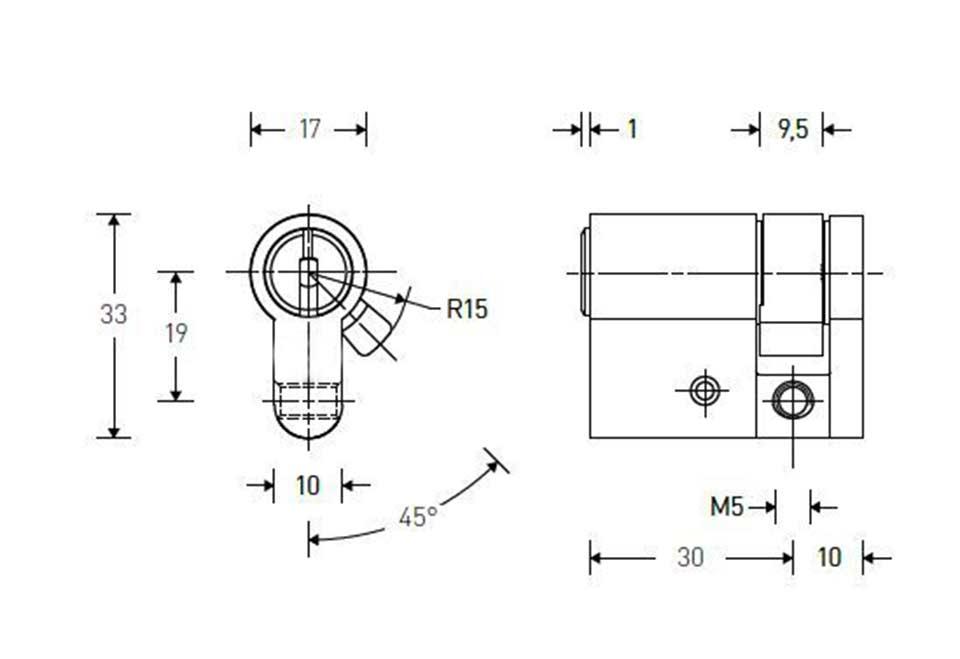 schloss schlie zylinder novoferm siebau 80203000 10 30. Black Bedroom Furniture Sets. Home Design Ideas