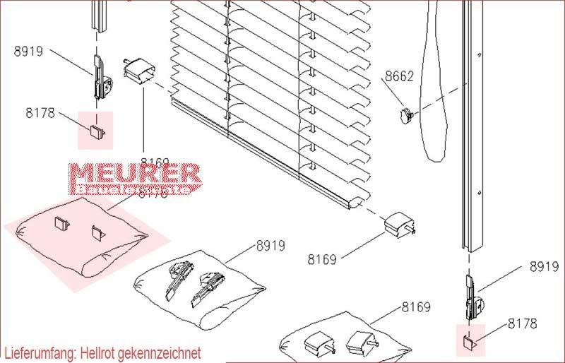 jalousie velux endkappen f r f hrungsschiene 8178. Black Bedroom Furniture Sets. Home Design Ideas