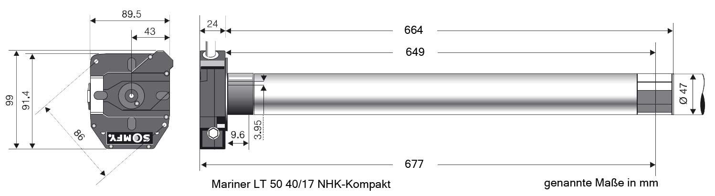 lt50 nhk mariner ersatz motor f r aluux rolltore 192041 somfy. Black Bedroom Furniture Sets. Home Design Ideas
