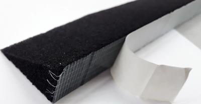 braas schaumstreifen schwarz selbst klebend keilfoermig 00549820. Black Bedroom Furniture Sets. Home Design Ideas
