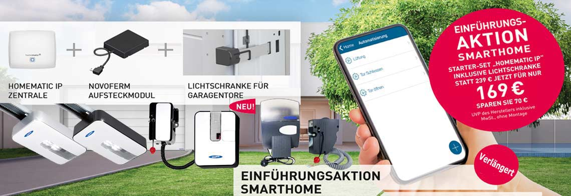 "Novoferm ""Homematic IP"" Smarthome STARTER SET für Garagentor-Antriebe"