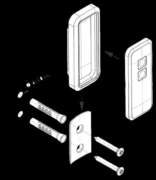 novoferm mini novotron 522 524 wandhalterung. Black Bedroom Furniture Sets. Home Design Ideas
