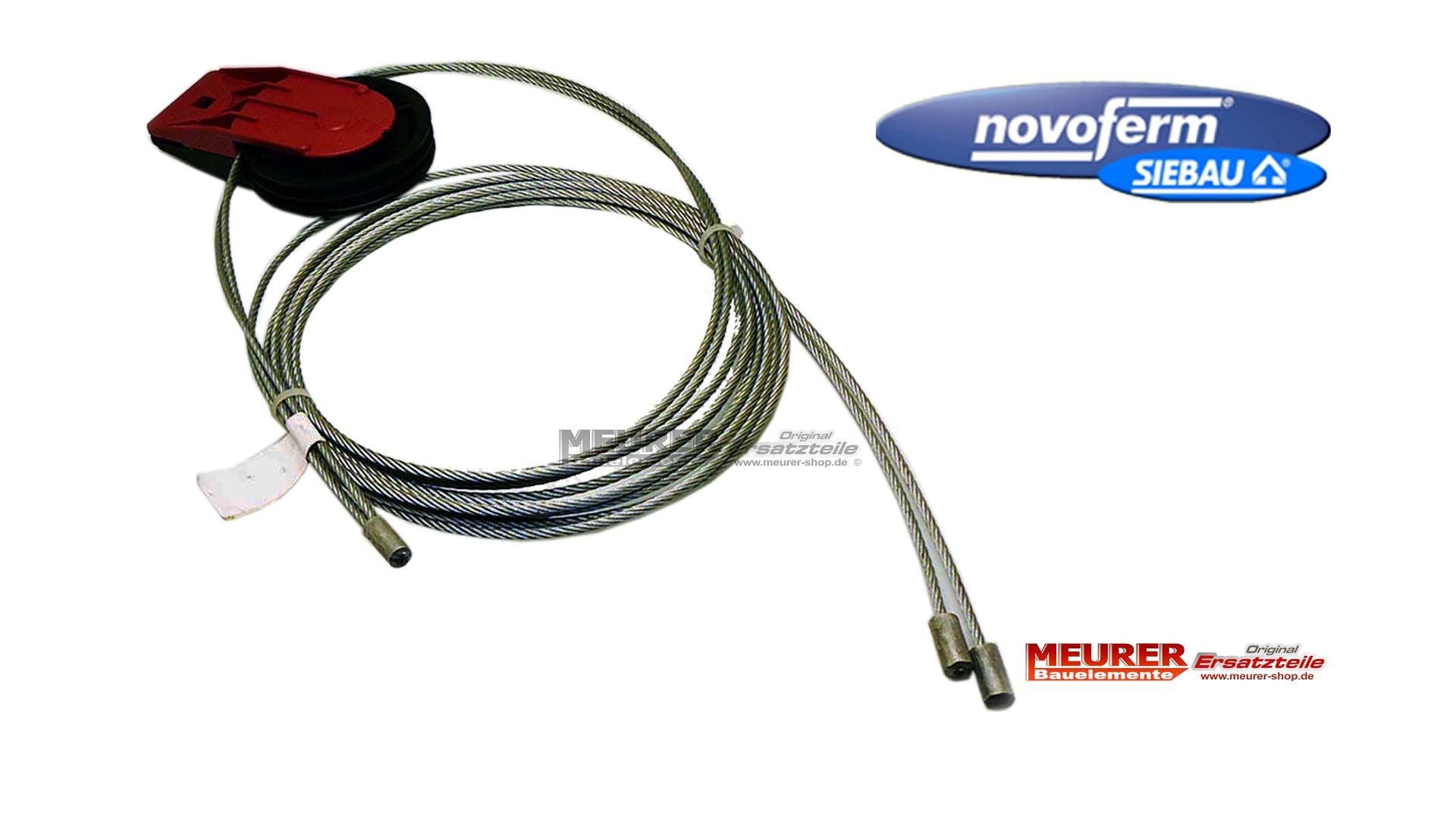 Seilumlenkrolle mit Drahtseile Novoferm Siebau Sektionaltor ISO 9/20 ...