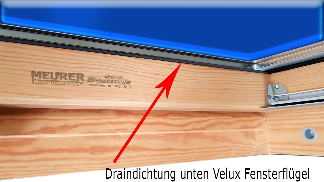 velux drain dichtung holz fensterfl gel unten 5551 holz 30 lfdm. Black Bedroom Furniture Sets. Home Design Ideas