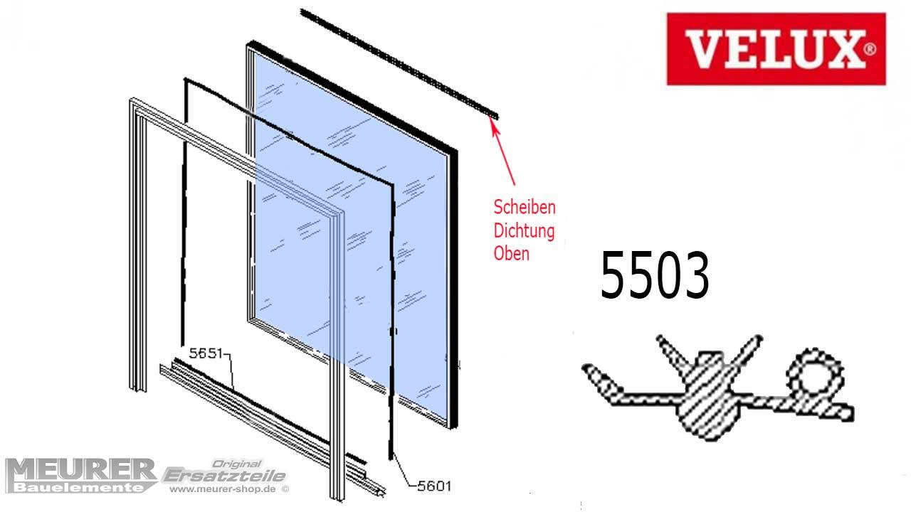 Velux Scheibenauflage Dichtung 5503 Kunststoff Fensterflgel Oben Wiring Diagram