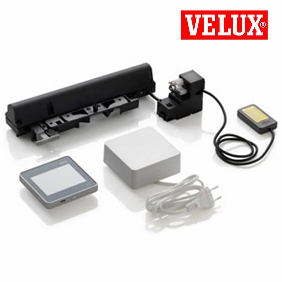 fenstermotor kmg 100 inkl regensensor velux integra kmg 100 ww. Black Bedroom Furniture Sets. Home Design Ideas