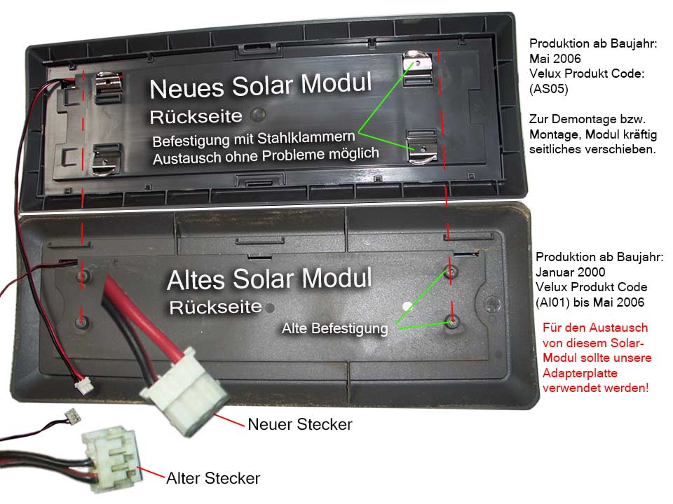 Sehr Solar Rollladen Akku, Motor, Velux Ersatzteil-Kitt ab Bj. 2000-ZOZ DU04