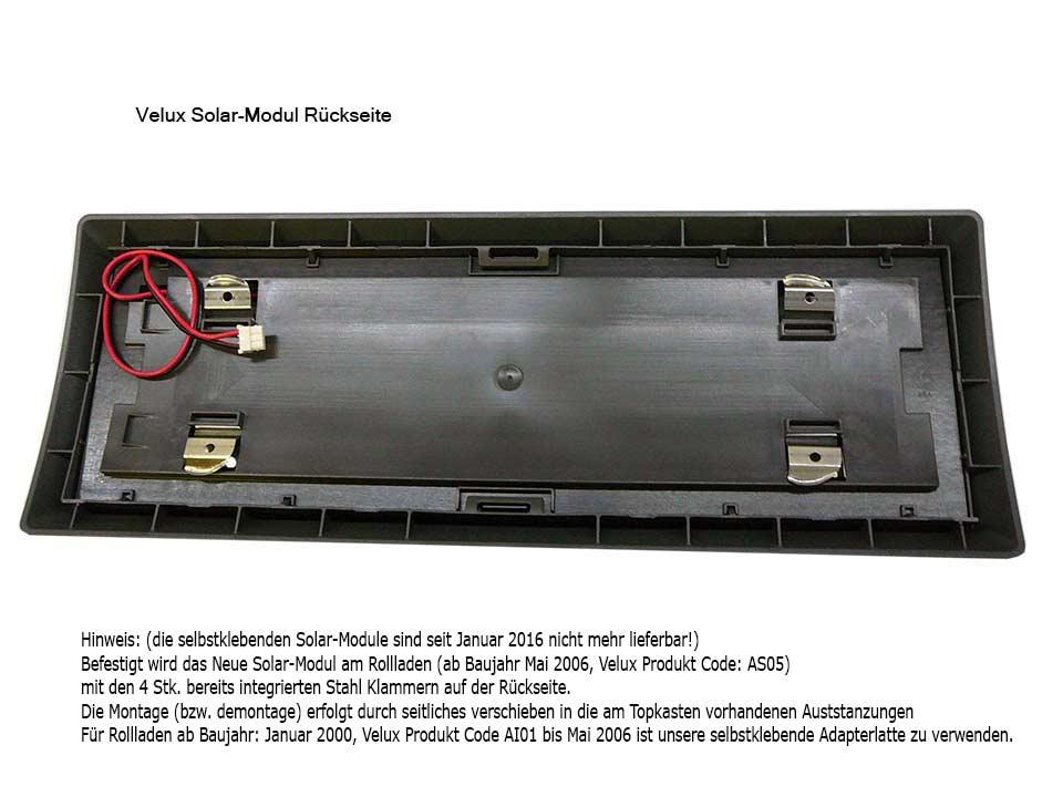 Solar Rollladen Akku Motor Velux Ersatzteil Kitt Ab Bj 2000 Zoz