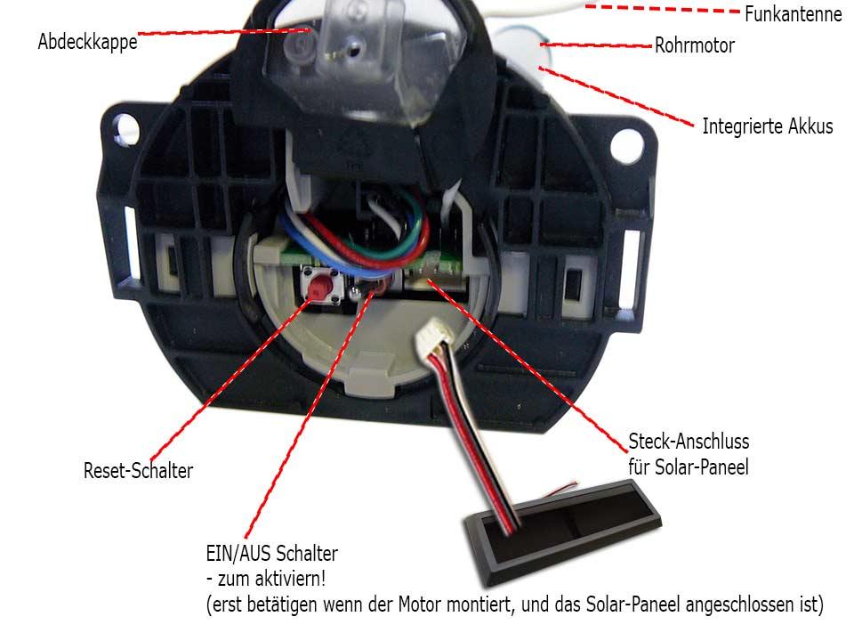 Solar Rollladen Akku, Motor, Velux Ersatzteil-Kitt ab Bj. 2000-ZOZ ...