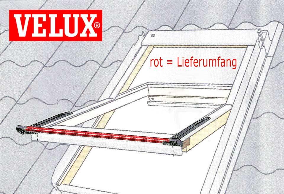velux rollladen abdeckblech sturmsicherung f r unten velux asr. Black Bedroom Furniture Sets. Home Design Ideas