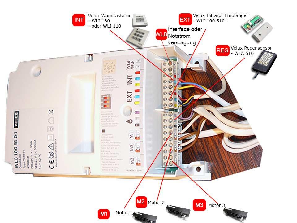 WLC 100 51 Velux Steuerung-WLC 100 5104 Velux Wiring Diagram on