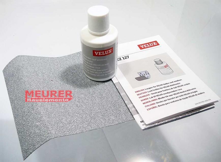 zzz 127 velux lack reparatur set farblos f r holzfenster. Black Bedroom Furniture Sets. Home Design Ideas