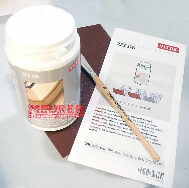 zzz 176 velux lack reparatur set farblos f r holzfenster zzz 176. Black Bedroom Furniture Sets. Home Design Ideas