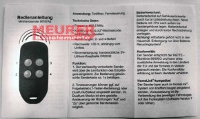 MT87A2 868,5 MHz Alulux Handsender