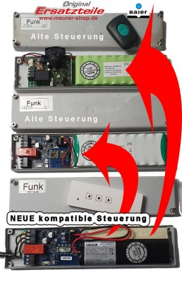 Solar-Funk-Steuerung Ersatz für Baier Solar Rollladen