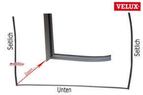 Velux Falz Dichtung 5351 GPU Kunststoff Dachfenster Ecken geschweißt