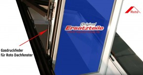 Gasdruckfeder, Dämpfer für Roto Dachfenster 735 & R7 K/H