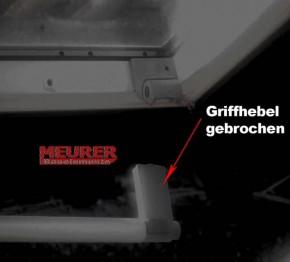 Griff-Hebel Grau BA ab Bj. 1991 für Braas Dachfenster