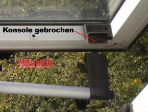 Griff Konsolen Braun BA ab Bj. 1981 für Braas Dachfenster