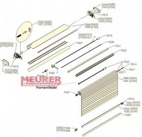 Rollladen Momentfeder, Velux Kurze Version F023